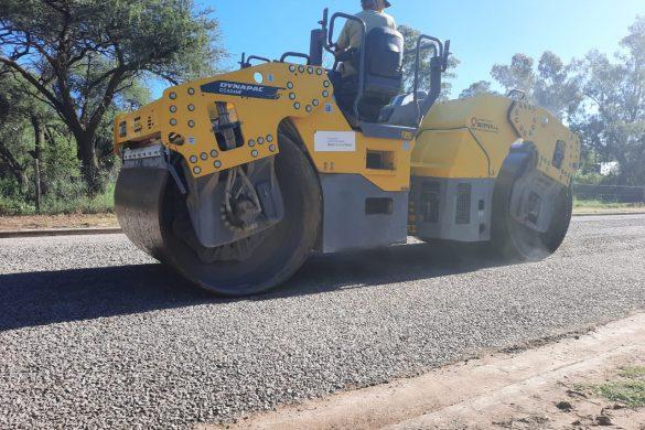 Importante obra de asfalto en Conhello