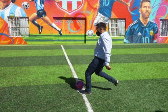 Inauguraron una cancha de fútbol con césped sintético en La Reforma