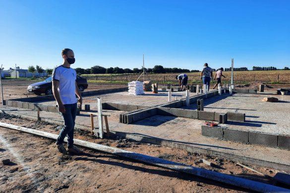 Avanza la construcción de cuatro viviendas sociales en Conhello