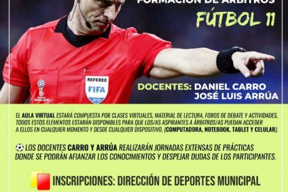 Aula Virtual para formación de árbitros de Fútbol 11 en 25 de Mayo